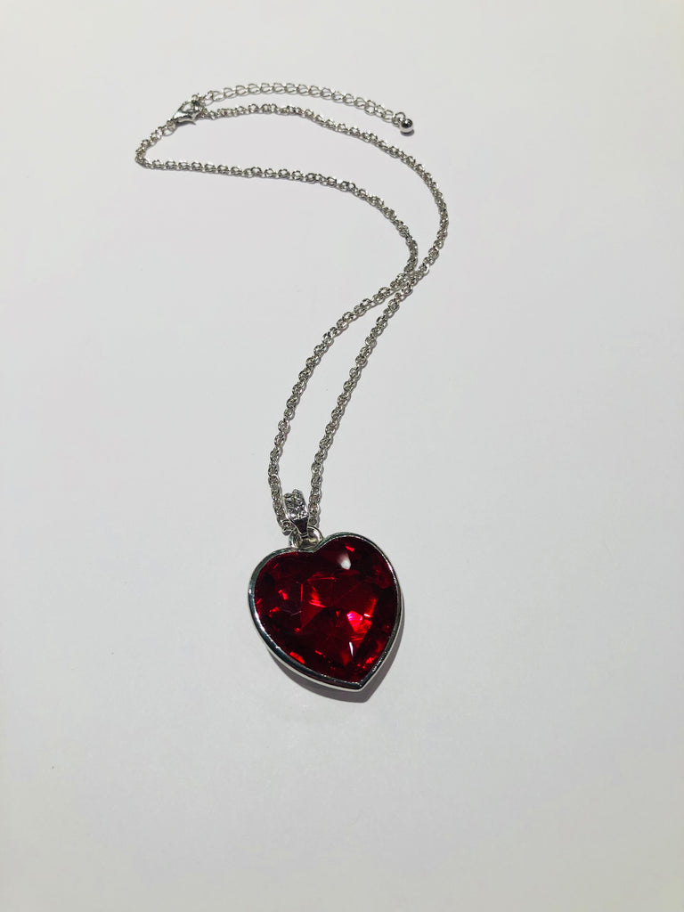 Faceted Heart Crystal Necklace