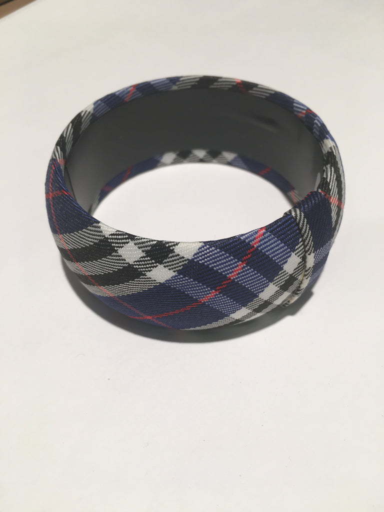 Gameday Blue White Plaid Bangle