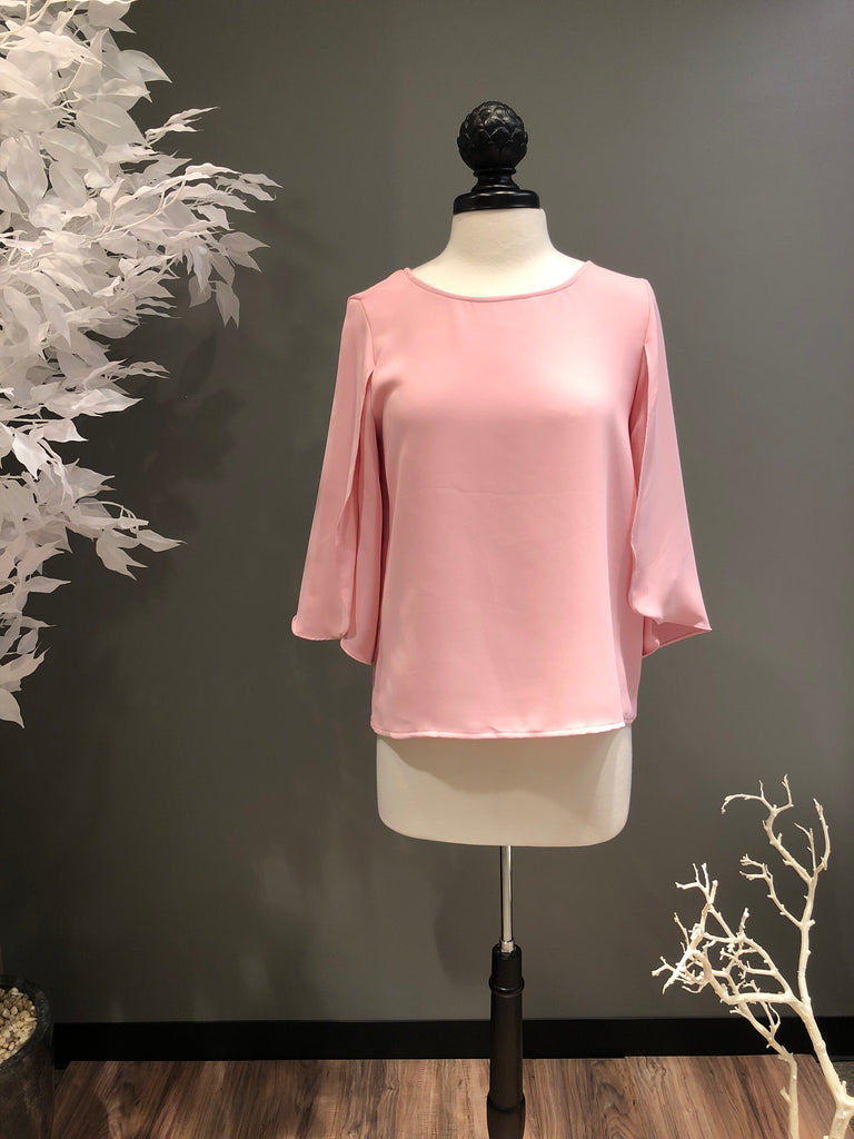 Blush Keyhole with Open Sleeves