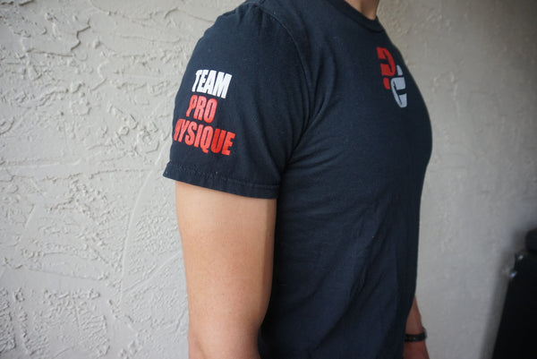 Team Pro Physique Sleeve and Neck Logo Tee