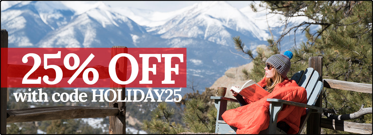 25% Hammocks, Blankets, Camping gear and more!