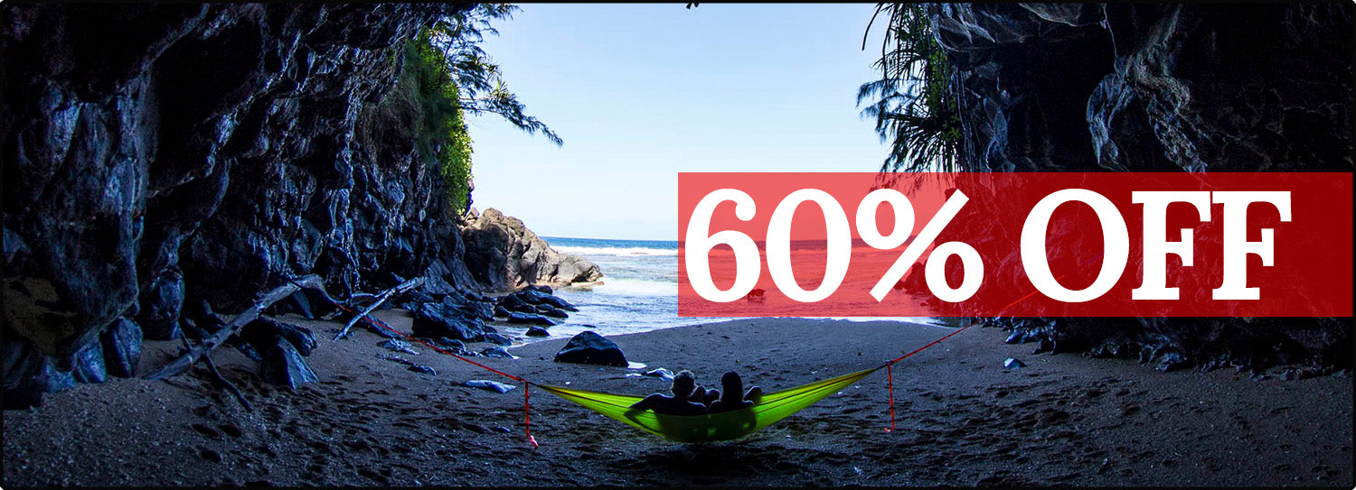60% off Hammocks and Travel Gear!