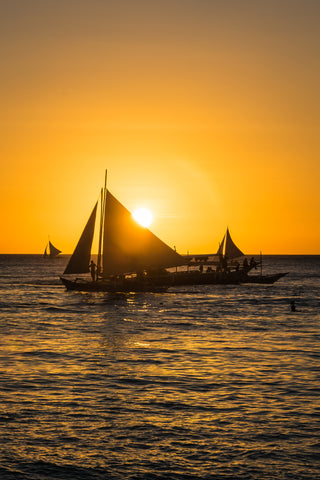 Phillippines, sailboat at sunset