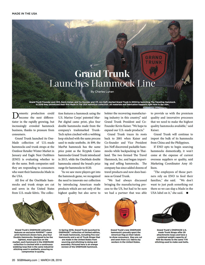 SGB Weekly Highlights Grand Trunk