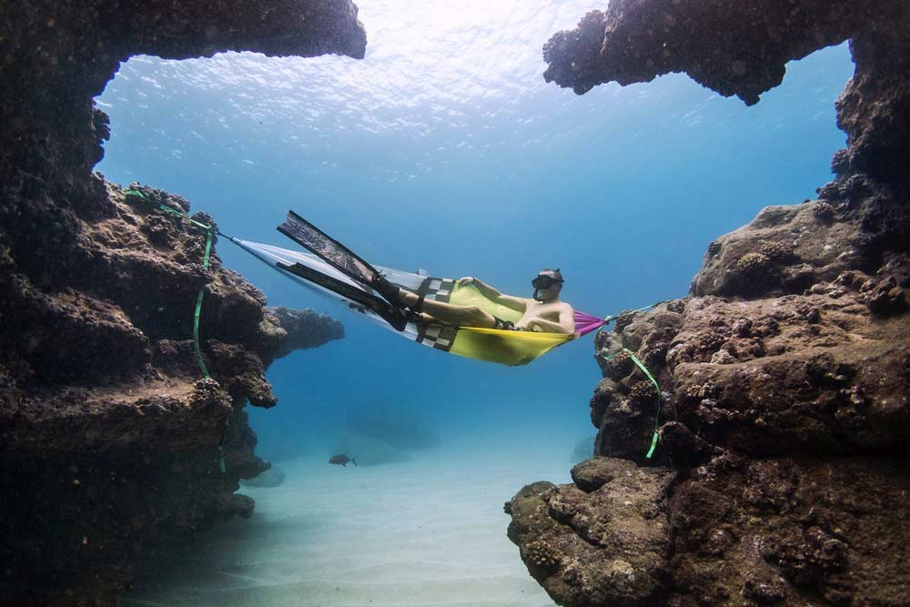 Jamie O'Brien Hangs Grand Trunk Hammock Underwater- JOB