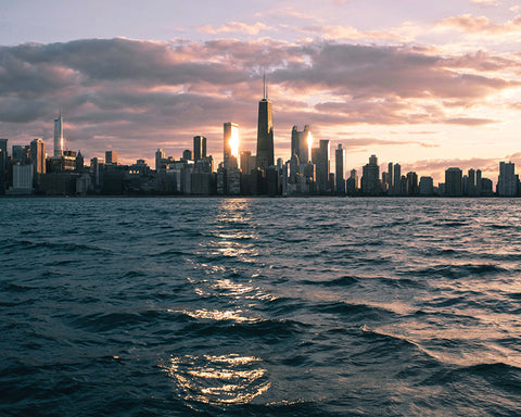 image of the Chicago skyline from across the water @KBUCKLANDPHOTO