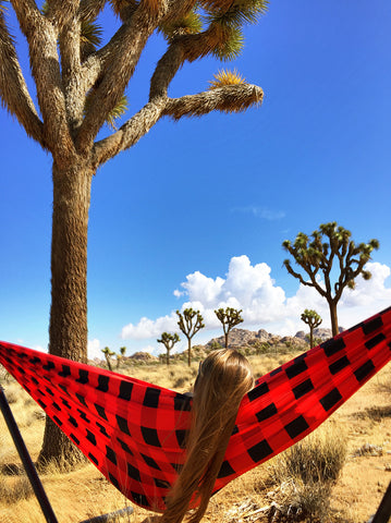 hammocking at Joshua Tree
