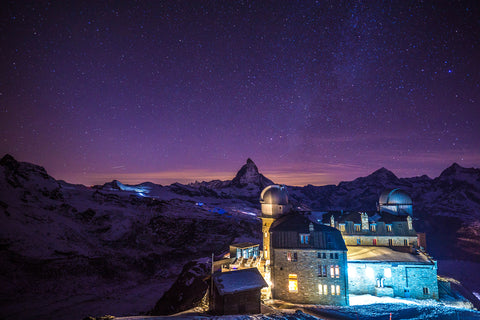 starry night sky in Zermatt, Switzerland