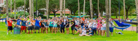 students hammocking at the University of Florida