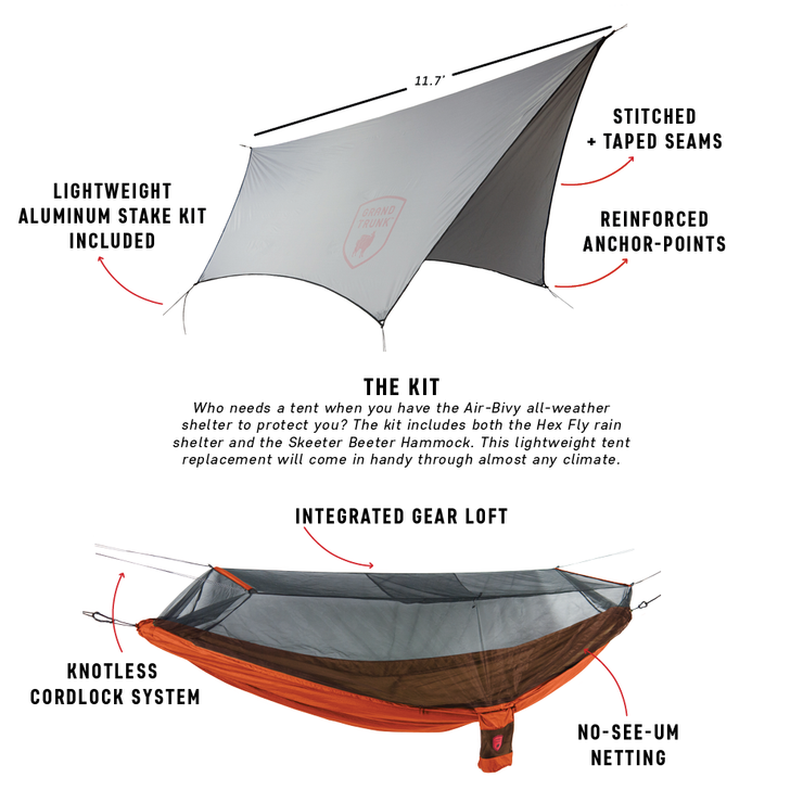 Air Bivy All Weather Shelter & Hammock