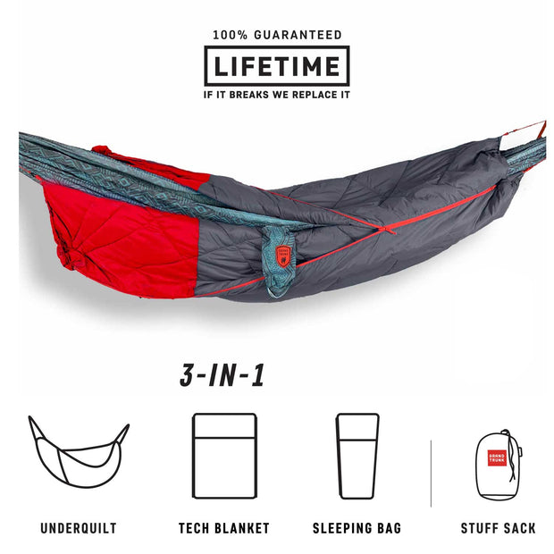 360° ThermaQuilt 3-in-1 Hammock Underquilt, Blanket and Sleeping Bag