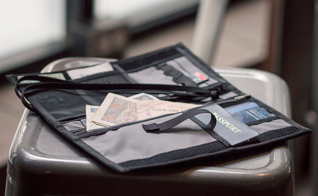 Passport Holder & Organizer - Mountain Grey