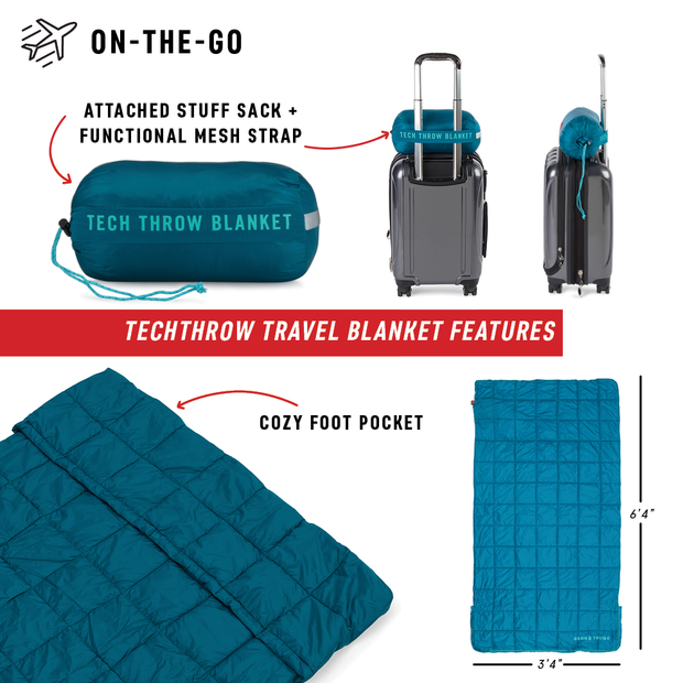 Tech Throw Travel Blanket