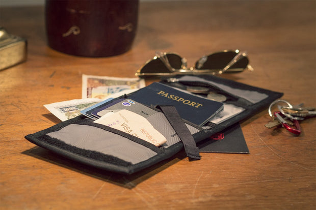 Passport Wallet - Mountain Grey