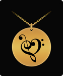 Musical Heart Laser Engraved Necklace