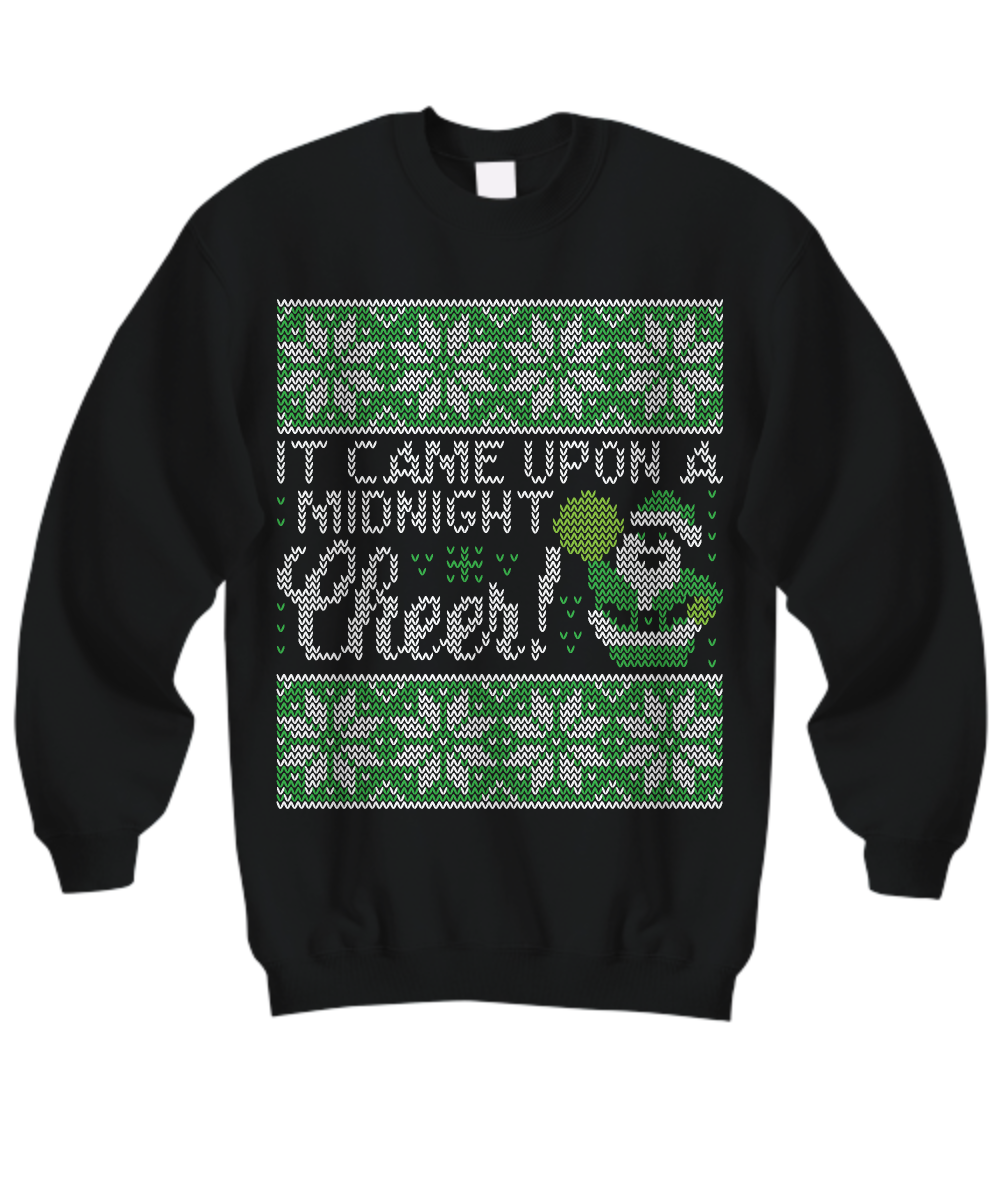It Came Upon A Midnight Cheer - Cheer leader - Tacky Sweatshirt