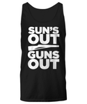 Sun's Out Guns Out Color Guard Rifle Unisex Tank