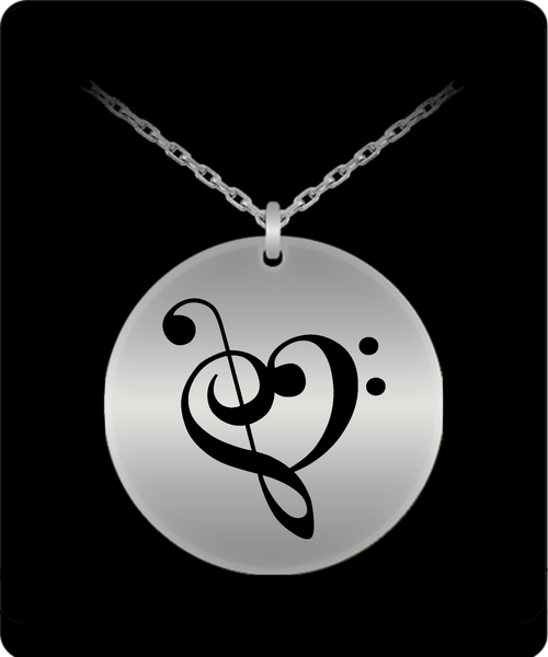 Musical Heart Laser Engraved - Stainless Steel