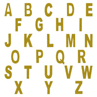 Go For Gold Glitter Letters