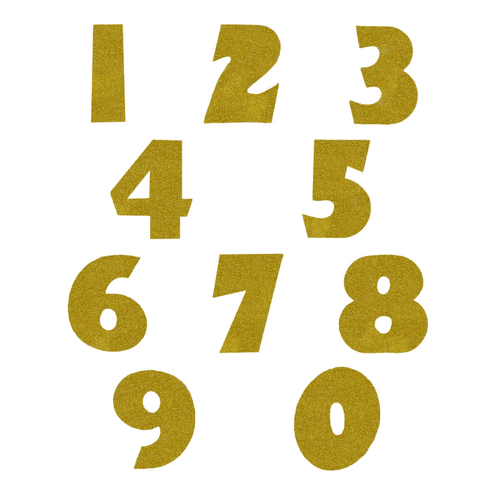 Go For Gold Glitter Numbers