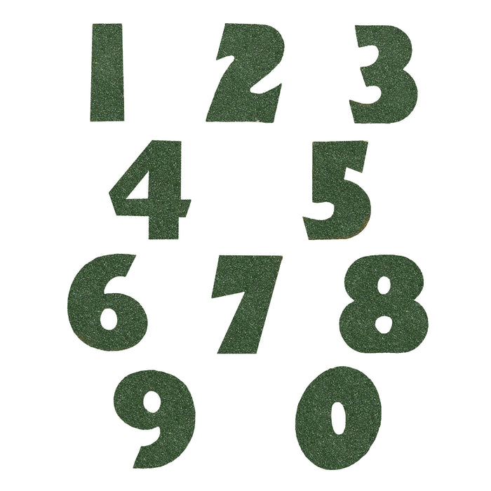 Gorgeous Green Glitter Numbers