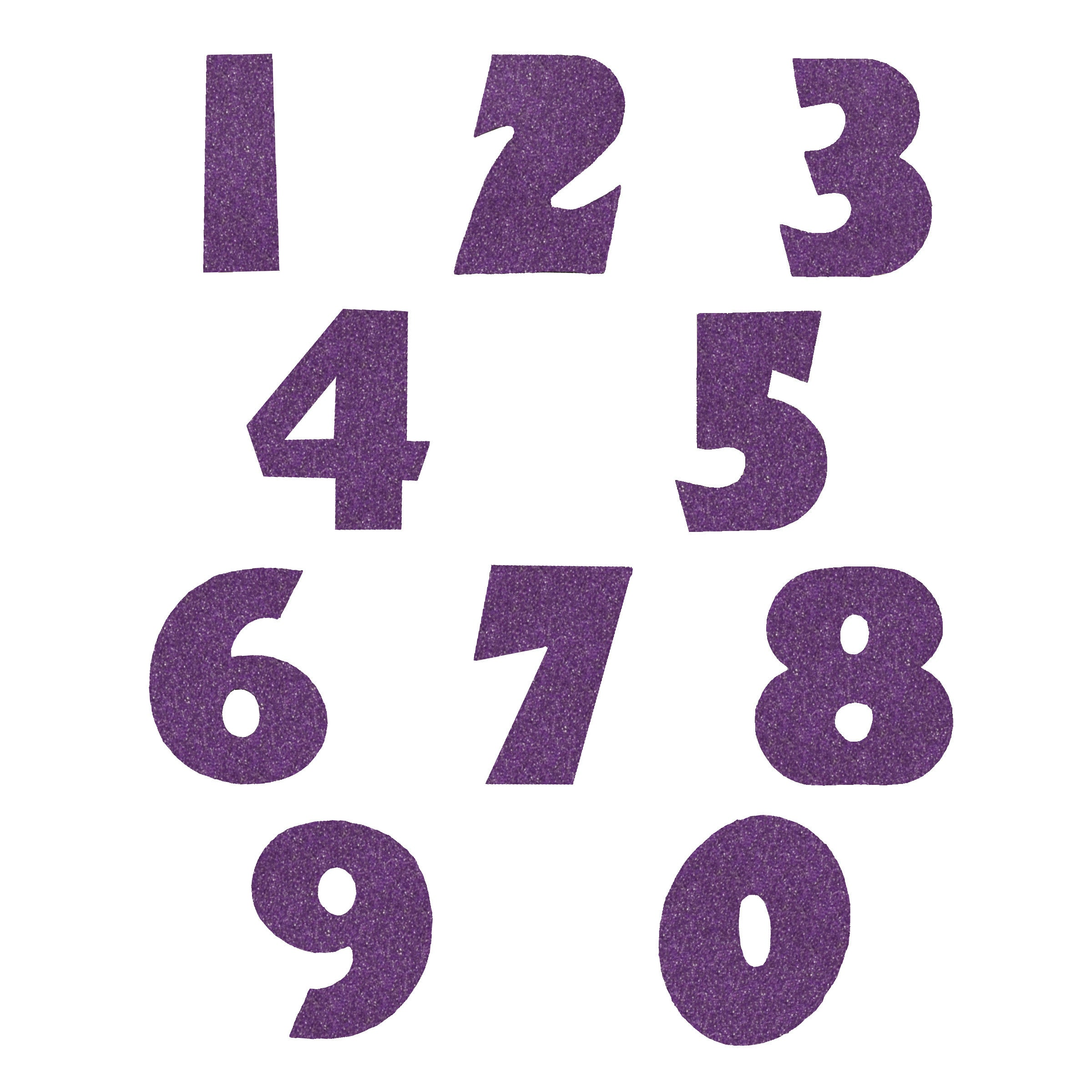 Picture Perfect Purple Glitter Numbers