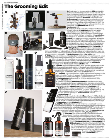 Risu featured in the September Issue of British GQ
