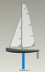 (Photo credit: Joysway) April 2012. The first CAD model of the DragonForce from Joysway. The most obvious differences to the final boat are the shape of the bow bumper (which would make a comeback on the version 6) and the boom fittings. A good starting point but a lot of changes needed