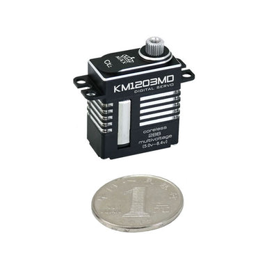 Kingmax Coreless 20g Digital Metal Gear Dual Bearing  Mini Rudder Servo - KM1203MD