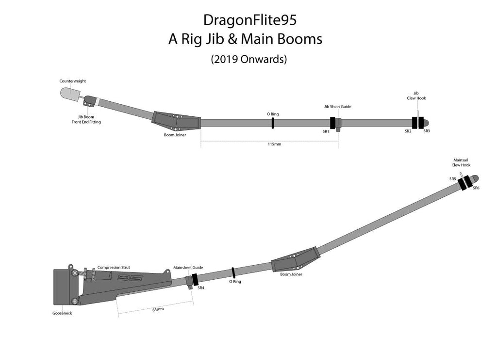 "Complete ""A"" Rig Assembly (No Sails) - DragonFlite 95"