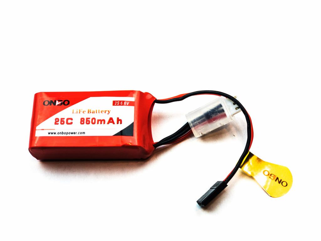 ONBO 25C 850mAh 2S LiFePO4 battery