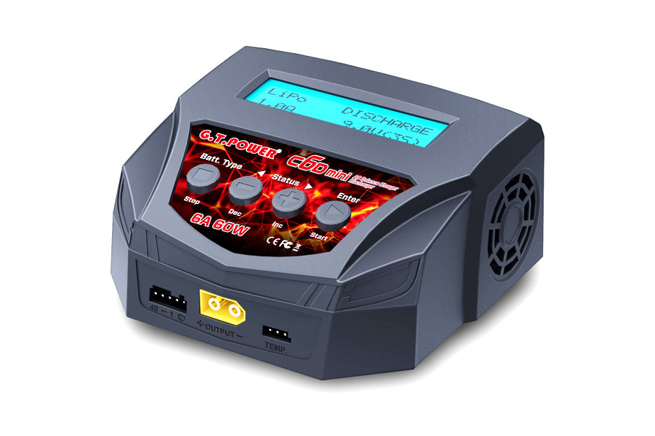 GT Power C6D Mini Balance AC Charger/Discharger - 6A / 60 Watt