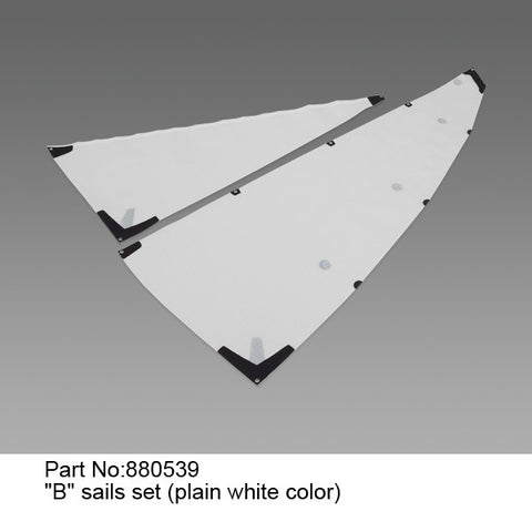 """B"" Sail Set (Plain White) - DragonForce 65"