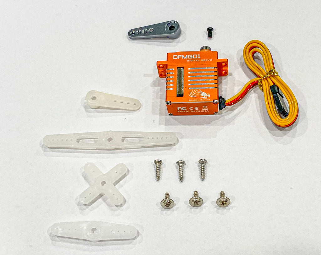 DFMGD1 20g Servo Package Contents
