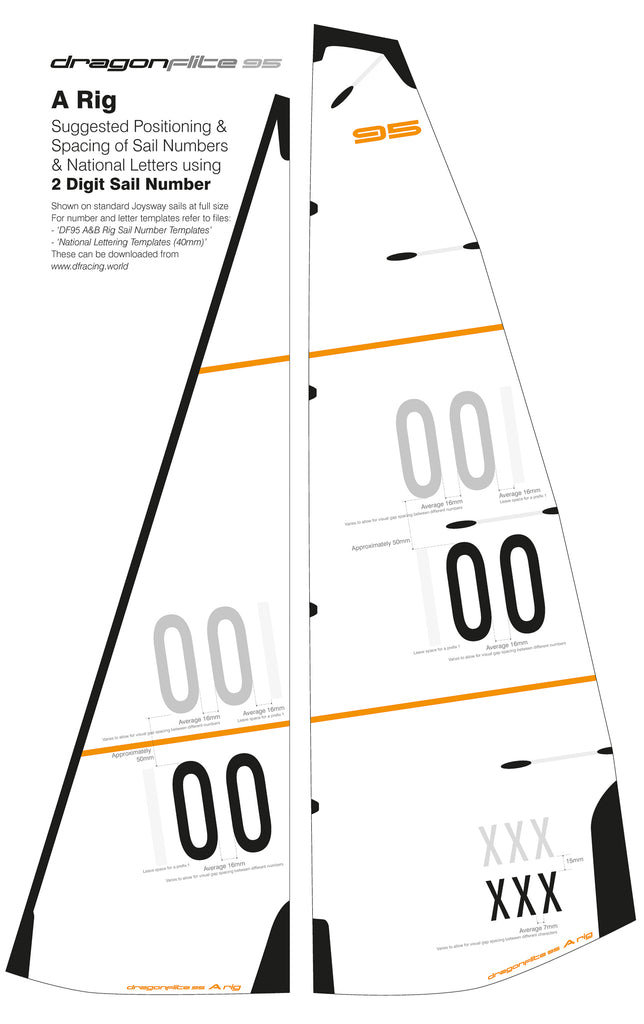 DF95 Sail Number Templates