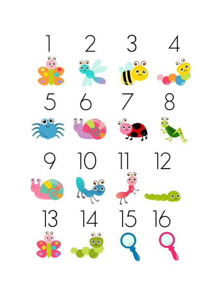 Bugs TicTacToe Game Set - 16 Image Choices