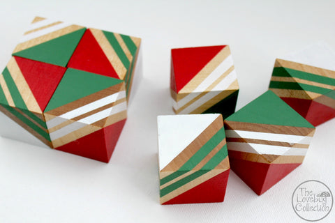 Christmas Wood Blocks Set