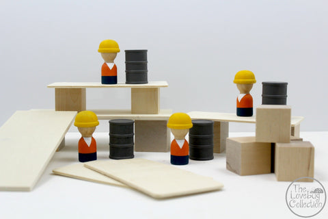 Construction Builder Set - 24 Pieces