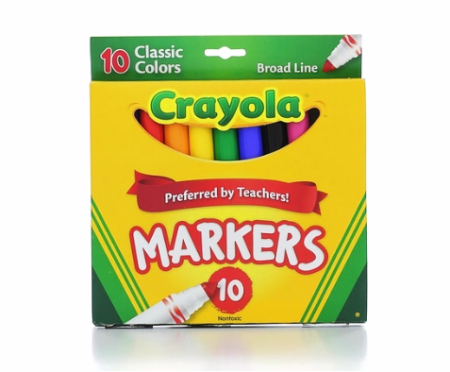 Crayola Classic Broad Line Markers - 10pk