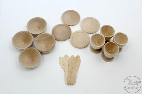Wooden Dishes Play Set