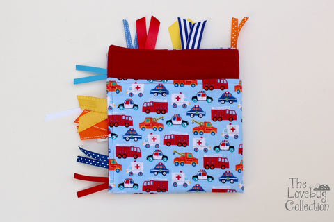 Emergency Vehicles Ribbon Blanket