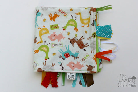 Farm Animals Ribbon Blanket