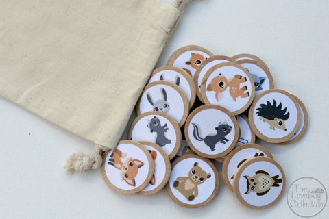 Forest Animals Memory Game Set