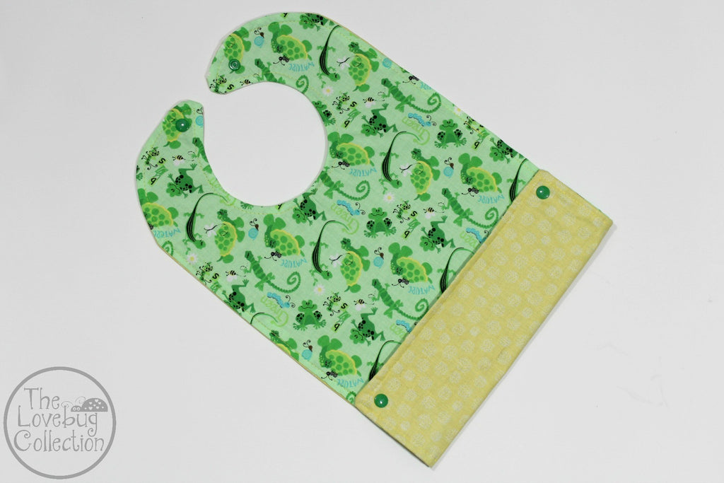 Frogs and Bugs Feeding Bib