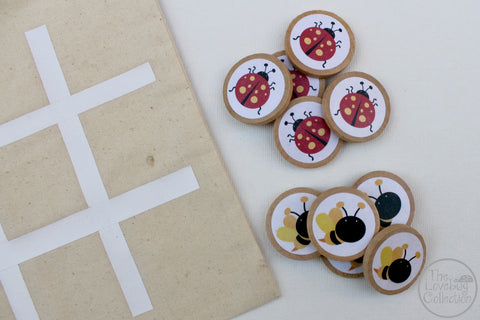 Ladybug and Bees TicTacToe Game Set
