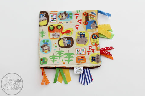 Little Builders Ribbon Blanket