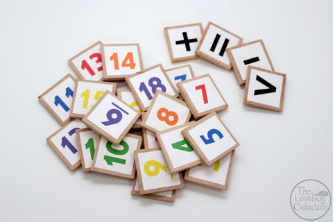 Basic Math Number Tiles