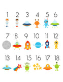 Outer Space TicTacToe Game Set - 18 Image Choices