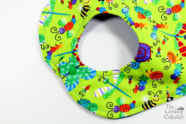 Rainbow Bugs Feeding Bib