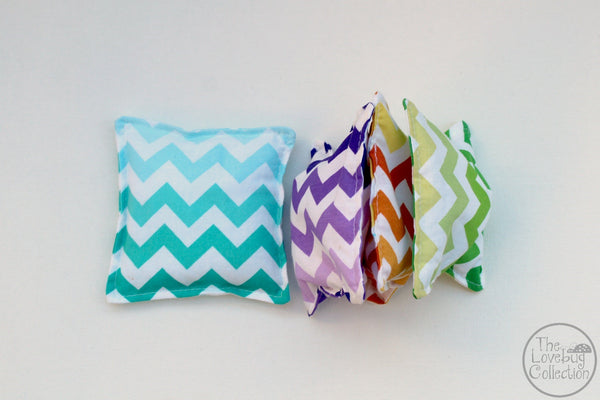 Rainbow Chevron Bean Bags